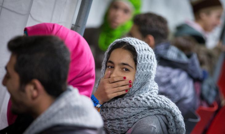 Kurdish asylum-seekers in Germany (photo: dpa)