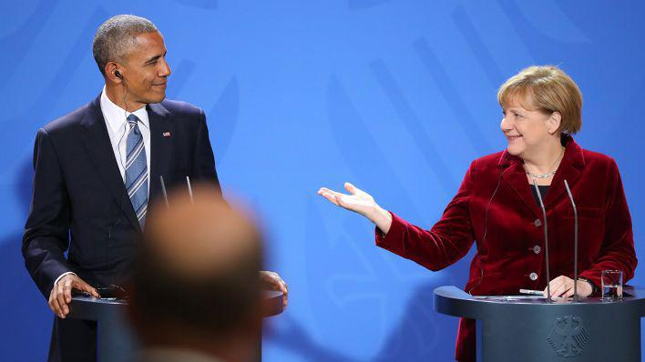 US president Barack Obama visits Angela Merkel in Berlin in November 2016 (photo: dpa/picture-alliance)