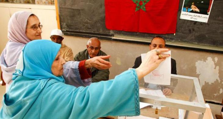 Moroccan women voting in Rabat (photo: dpa)