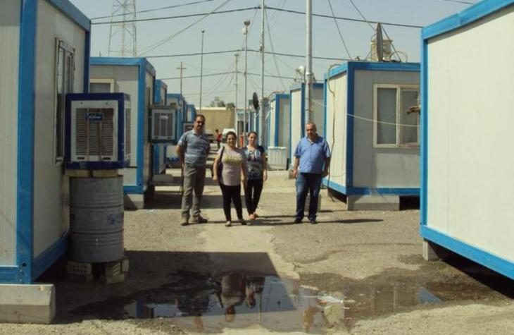 Virgin Mary refugee camp for Christians in Baghdad