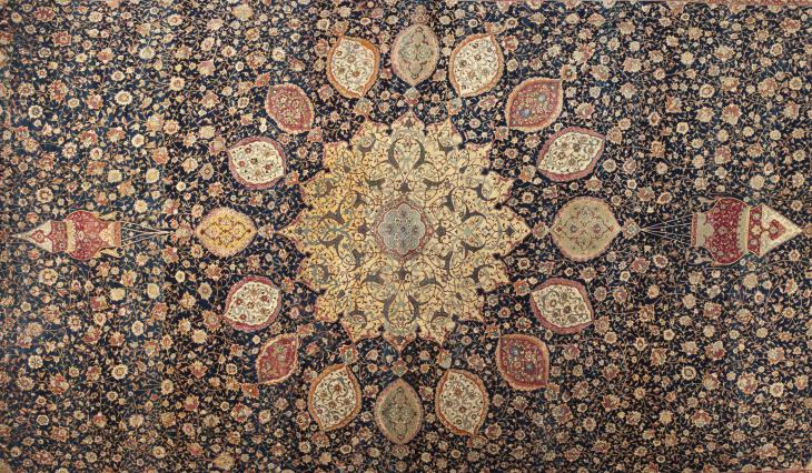 Ardabil Carpet (source: LACMA; Los Angeles County Museum of Art)