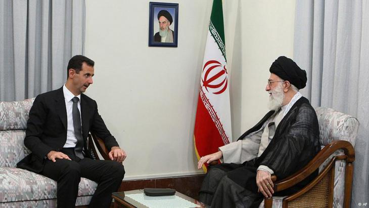 Bashar al-Assad meeting Ali Khamenei in Tehran