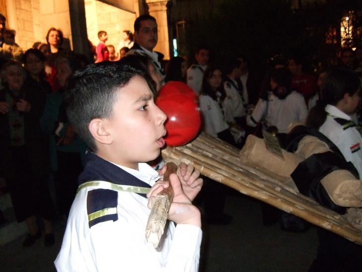Christians celebrate Good Friday in a church near Damascus (photo: Claudia Mende)