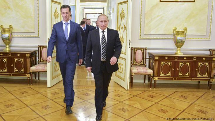 Syrian President Bashar al-Assad (left) and Russian President Vladimir Putin, October 2015 (photo: Reuters)