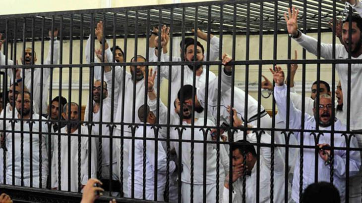 Arrested members of the Muslim Brotherhood (photo: Reuters)