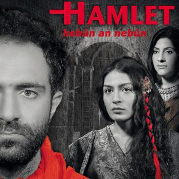 Poster advertising a production of Hamlet by Diyarbakir′s municipal theatre company