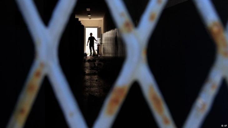 Abu Salim prison in Tripoli in August 2011 (photo: AP)