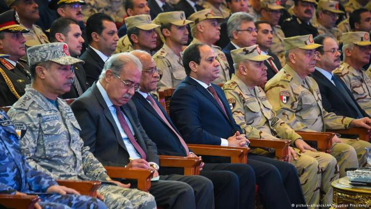 Egyptian President Abdul Fattah al-Sisi attending an anti-terrorism event in Cairo (photo: picture-alliance)