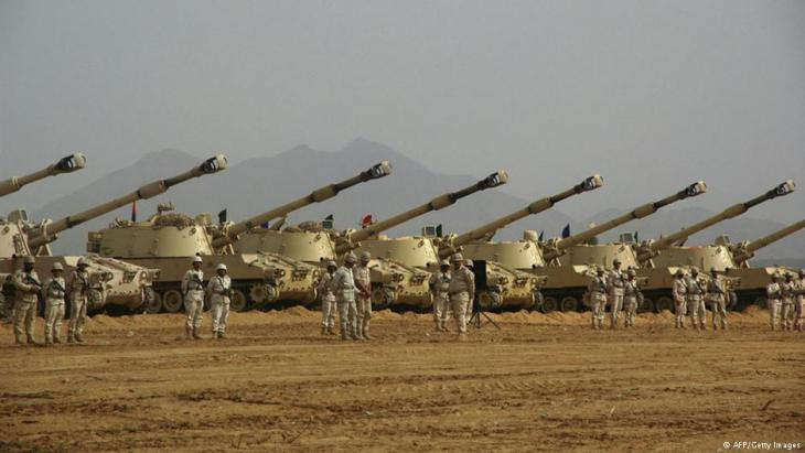 Saudi tanks (photo: AFP/Getty Images)