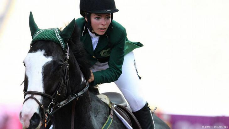 Dalma Rushdi H Malhas competes for Saudi Arabia during the 2010 Youth Olympic Games in Singapore
