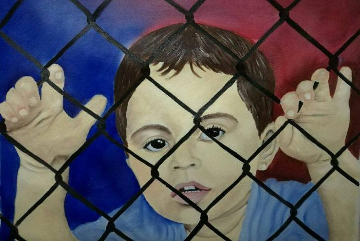 """Child on Nauru"" by Abbas Al Aboudi (photo: Abbas Al Aboudi)"