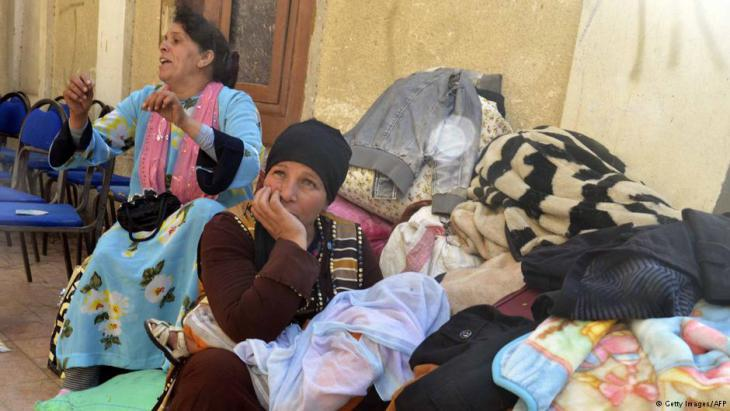 Coptic refugees from El Arish in Ismailia (photo: Getty Images/AFP)