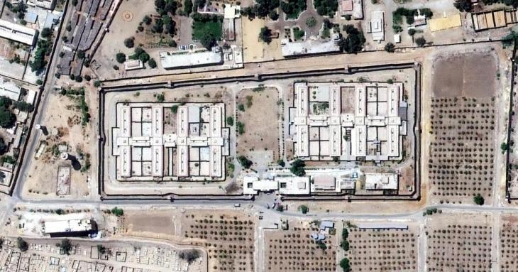 View of the infamous Al Aqrab prison near Cairo (photo: HRW)