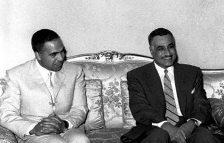 Abdel Hamid al-Sarraj and Gamal Abdel Nasser