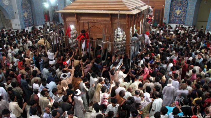 Sufis dancing at the Lal Shahbaz Qalandar shrine (photo: AFP/Getty Images)