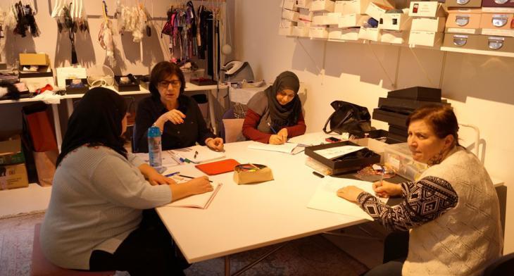 Planning meeting at the ″Rita in Palma″ atelier (photo: Ceyda Nurtsch)