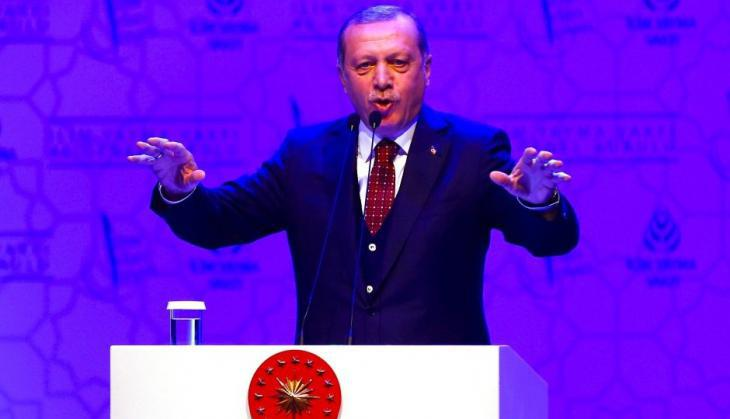 Turkish President Erdogan electioneering in Ankara (photo: Reuters)