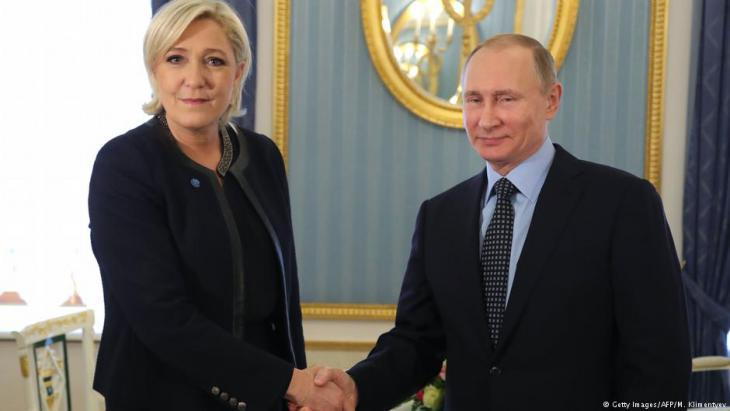 Marine Le Pen visiting Vladimir Putin in Moscow (photo: Getty Images/AFP)