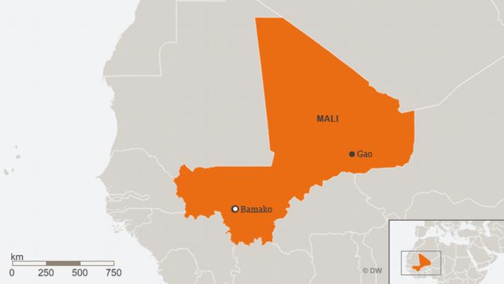 Infografik Karte Malis; Quelle: DW