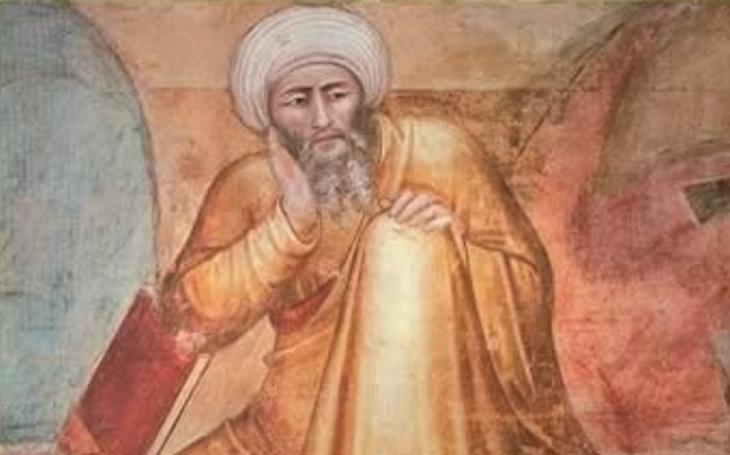 14th century painting of Ibn Rushd (Averroes) by Andrea di Bonaiuto (source: Wikipedia)