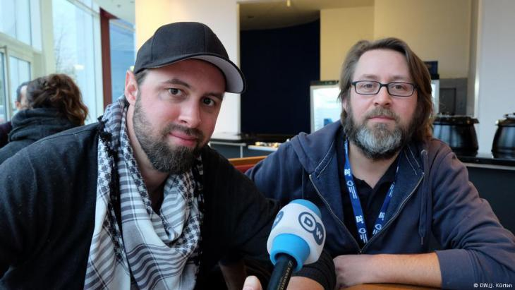 Director Philip Gnadt and co-director and producer Mickey Yamine in interview (photo: DW)
