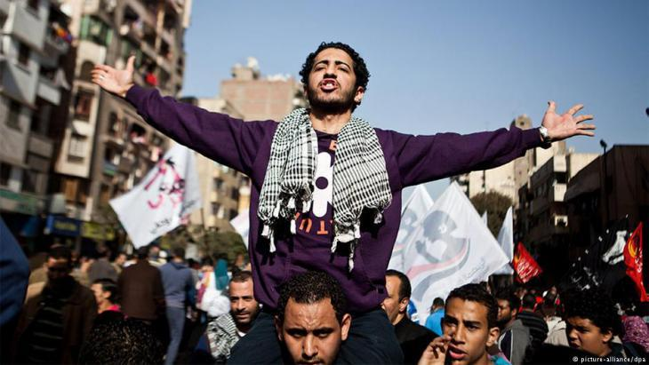 Egypt′s Revolutionary Youth demonstrates against the repression of the military (photo: picture-alliance/dpa)