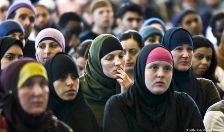 Muslim women attend the first National Islam Congress in Amsterdam in 2009