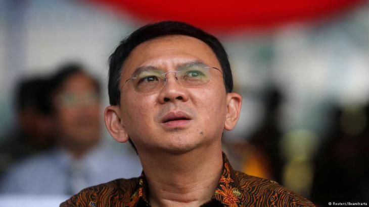 Former Christian governor Basuki Tjahaja Purnama following his election defeat in Jakarta (photo: Reuters)