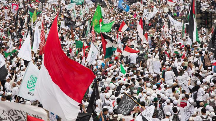 Protests against Ahok on 31.03.2017 in Jakarta (photo: Getty Images)