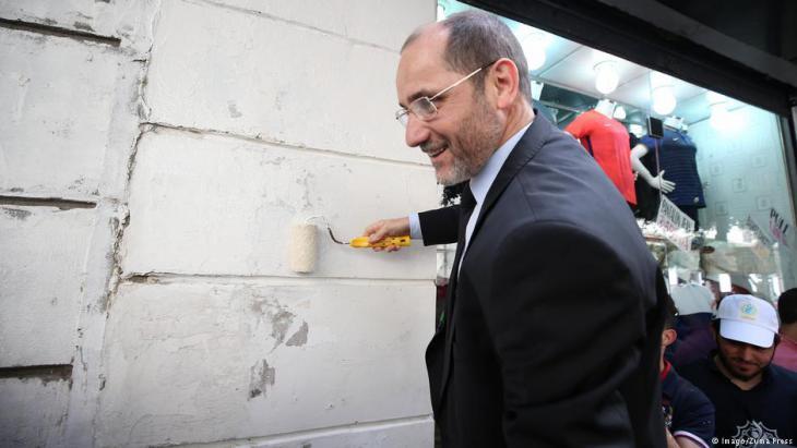 Abderrezak Makri during a campaign event on 9 April in Algiers (photo: Imago/Zuma Press)