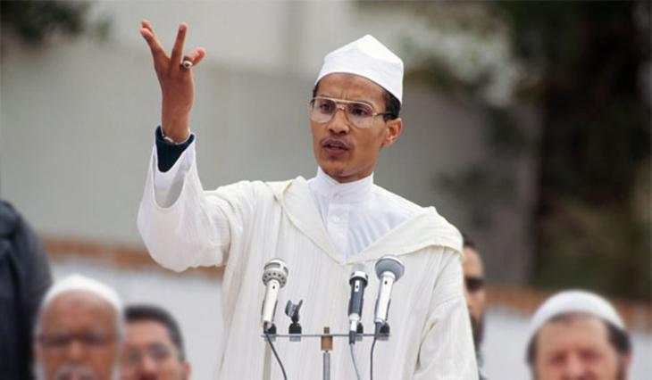 Former head of the Islamic Salvation Front, Ali Benhadj (photo: AP)