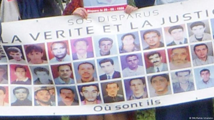 Demonstration in Algiers to draw attention to those still missing since the civil war (photo: DW)