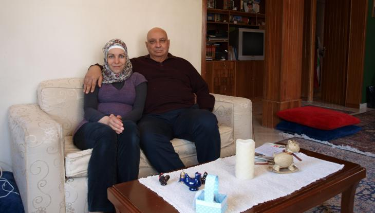 Naim Elghandour and his wife Anna in their Athens apartment (photo: Mey Dudin)