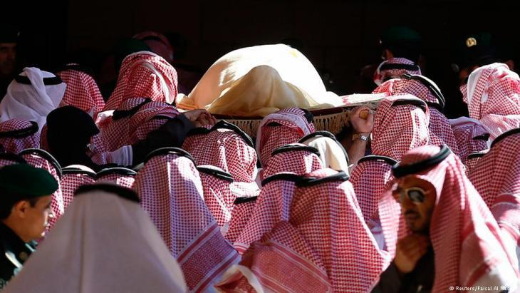 Burial of King Abdullah bin Abdulaziz in Riyadh in January 2015 (photo: Reuters)