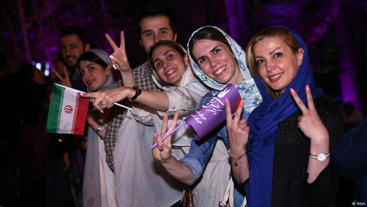 Iranians celebrate Rouhani′s victory in Tehran (source: IRNA)