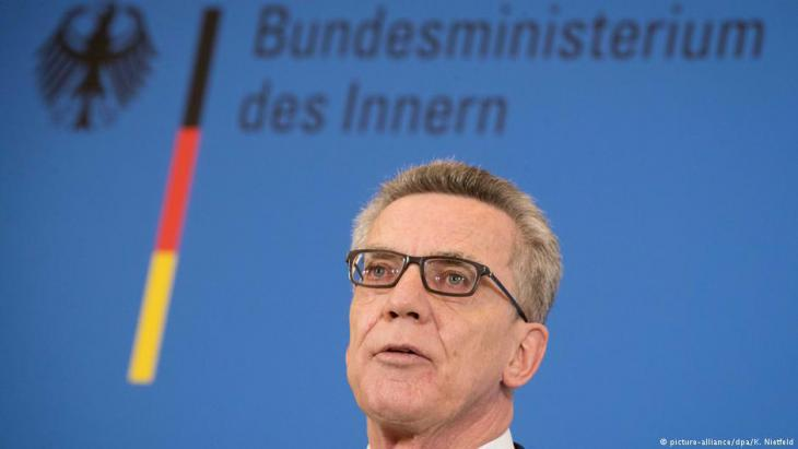 Federal Minister for the Interior Thomas de Maiziere (photo: picture-alliance/dpa)