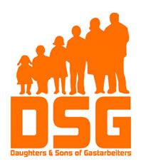 "Logo of the ""Daughters and Sons of Gastarbeiters"" writers' collective (source: gastarbeiters.de)"