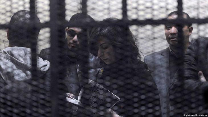 NGO employees under arrest in Cairo (photo: EPA/Mohamed Omar/dpa)