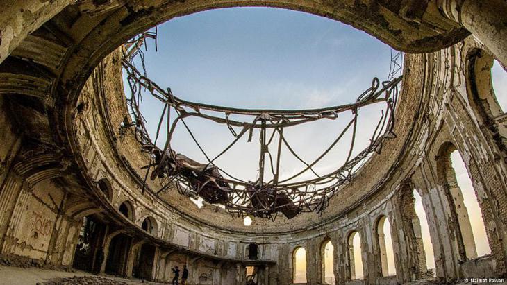 The ruins of Darul Aman Palace in Kabul (photo: Naimat Rawan)