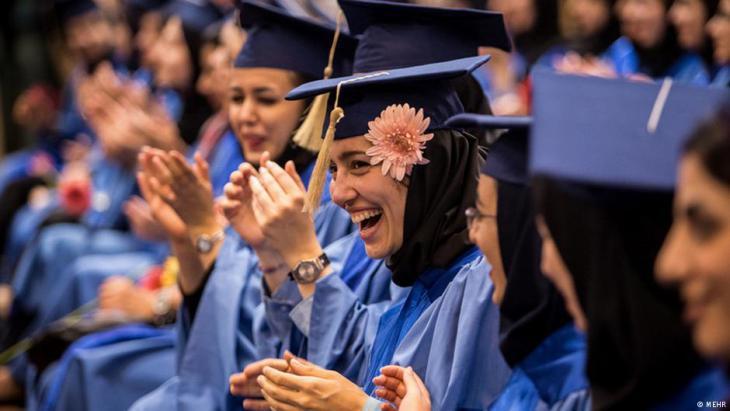 Female university graduates at Amir Kabir Technical University in Tehran (photo: Mehr)