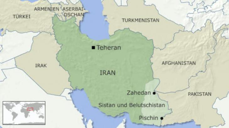 Infographic: Iran′s Sistan and Baluchistan Province with its capital Zahedan (source: DW)