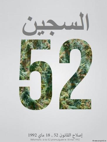 Symbol of the campaign to decriminalise hashish in Tunisia (source: Al-Sajjin52.tn)