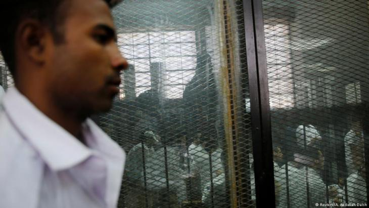 Detainees in Cairo awaiting trial (photo: Reuters)
