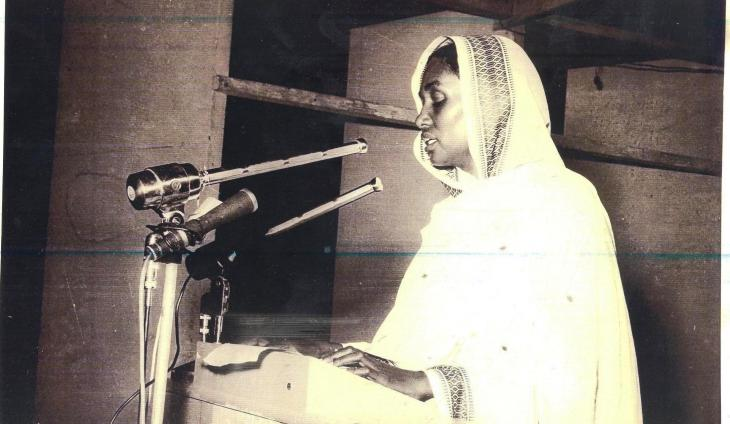 Sudan's first female politician and human rights activist Fatima Ahmed Ibrahim, winner of the Ibn Rushd Prize for Freedom of Thought 2006 (source: Ibn Rushd Fund for Freedom of Thought)