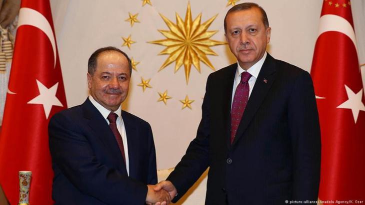 Massoud Barzani meets Erdogan in Ankara (photo: picture-alliance/Anadolu Agency/K. Ozer)