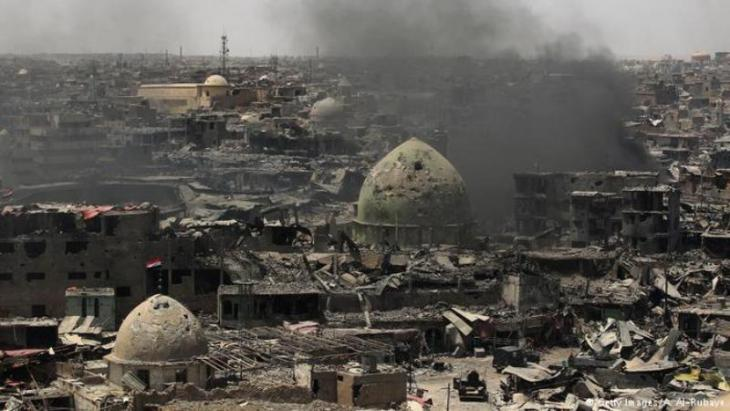 General view of the destruction of Mosul Old City, July 2017 (photo: AHMAD AL-RUBAYE/AFP/Getty Images)