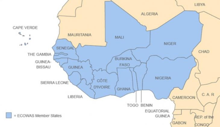 Members of the West African economic union ECOWAS (source: Brookings Institution)