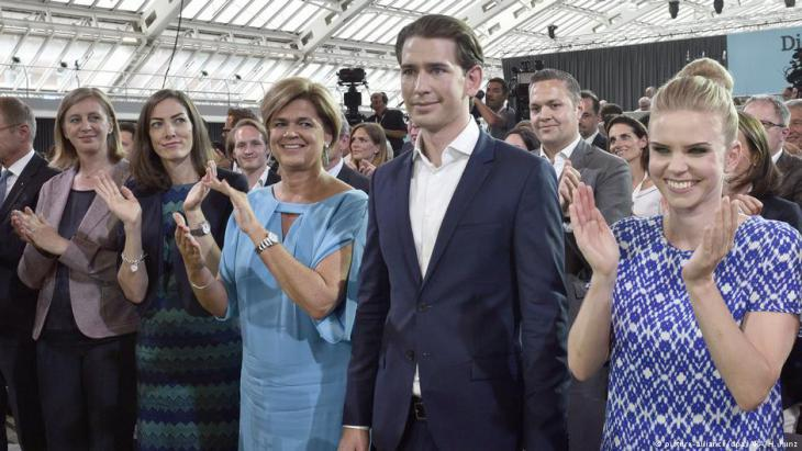 Sebastian Kurz at the OVP party conference in Linz (photo: picture-alliance/dpa)