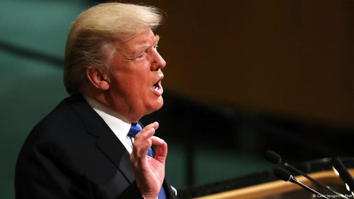 Trump addresses the United Nations in New York on 19 September 2017 (photo: Getty Images)