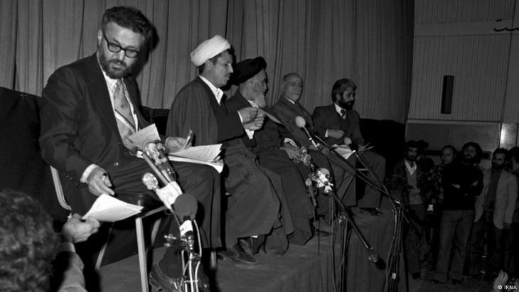 Ebrahim Yazdi (left) with Rafsanjani, Khomeini and Bazargan (photo: Irna)